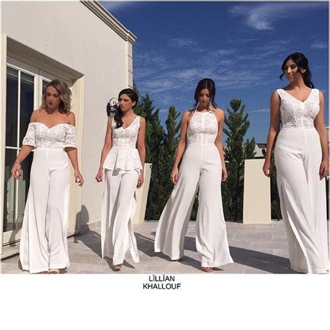 bridesmaids  jumpsuits  atlilliankhallouf hair