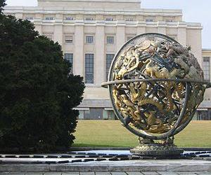 Sede de la ONU en Ginebra, donde sesiona el Consejo de Derechos Humanos.