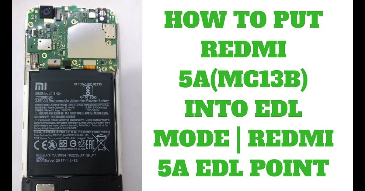 Xiaomi Redmi Note 5a Edl Test Point - Gadget To Review