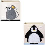 3 Sprouts Kids Felt Mouse Storage Cube Box Toy Bin w/ Penguin Storage Cube Bin at Spreetail (VMinnovations | VM Express)