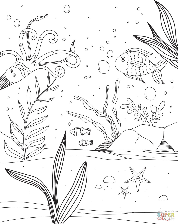 malvorlagen unterwasserwelt um  malvorlagen