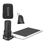 Movo MA300 Compact Omnidirectional TRRS Microphone Compatible with iPhone/Andorid Smartphones & Tablets with A 3.5mm Input Jack