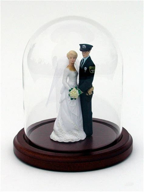 Glass Domes for Wedding Cake Toppers Figurines