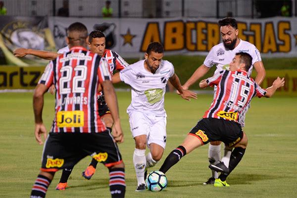 Resultado de imagem para ABC empata com o São Paulo no Frasqueirão e é eliminado da Copa do Brasil