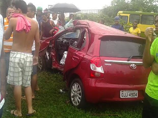 Thiago era cadete da Polícia Militar e teria perdido o controle do veículo após aquaplanar (Foto: Domingos Ribeiro/Mirante AM)