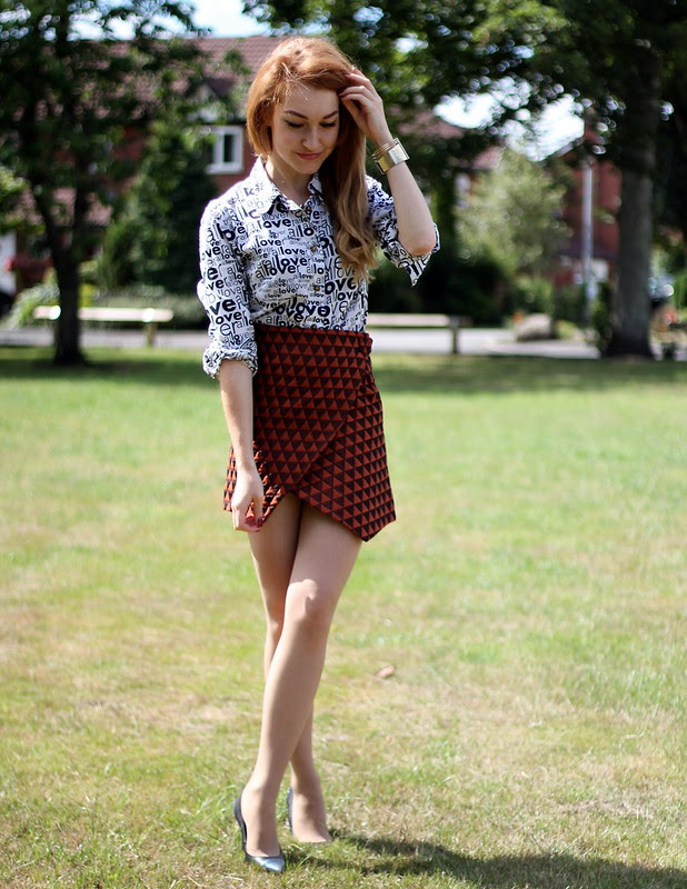Topshop Quilted Wrap SKirt