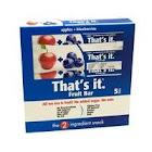 Thats It Fruit Bar, Apple + Blueberries - 5 pack, 1.2 oz bars