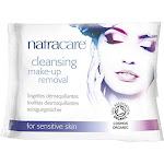Natracare Make-Up Removal, Cleansing, for Sensitive Skin - 20 wipes