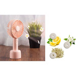 Personal Handheld Fan by Insten Pink Mini Portable Fan Aroma Cooling Fan Battery Operated with Desk
