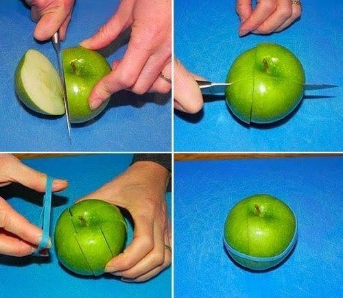 Как хранить разрезанное яблоко так, чтобы оно не потемнело