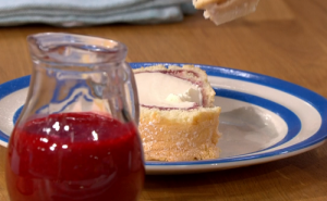 Phil Vickery Arctic Roll with Raspberry sauce recipe on ...