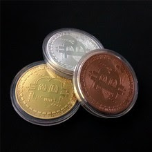 Gold Plated Bitcoin Art Collection Physical Gold Commemorative Coins