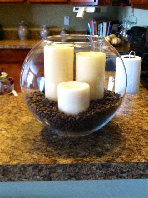 candles  coffee beans display