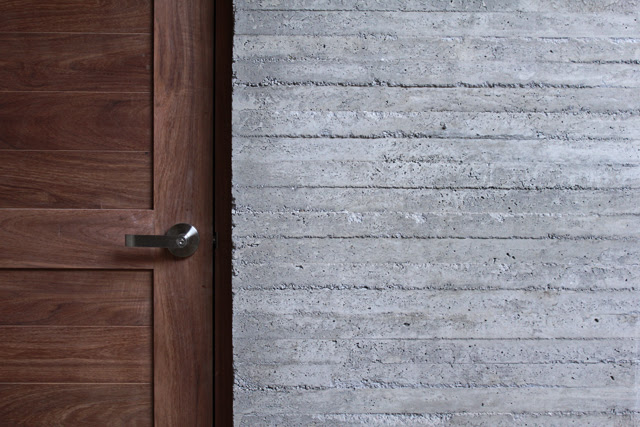 Concrete and wood make a great combo.