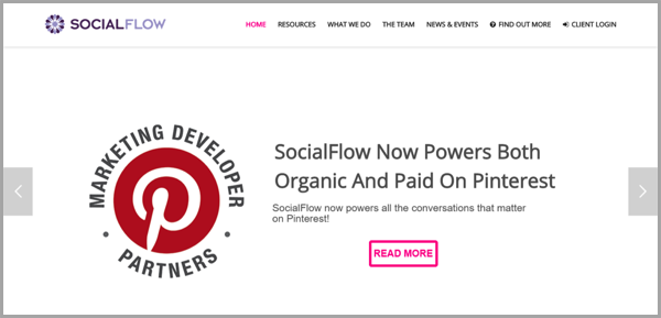 SocialFlow - example of social media management tools