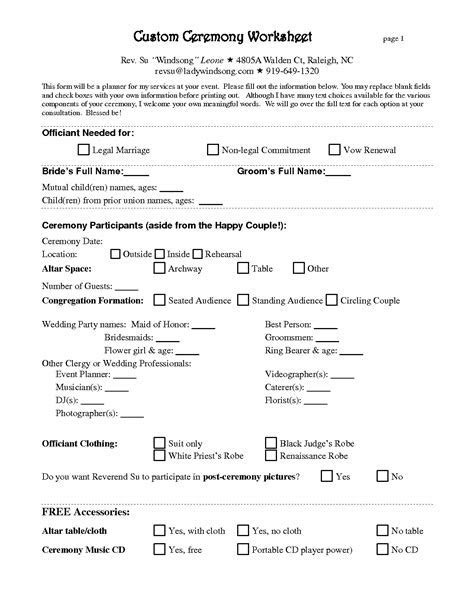 Free Wedding Planner Contract Template   baby shower in