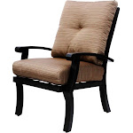 Barbados Cushion Aluminum Outdoor Patio Dining Chair With Cushion