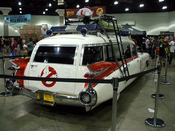The Ecto-1 from GHOSTBUSTERS at Stan Lee's Comikaze Expo in downtown Los Angeles, on November 2, 2013.