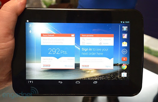 Tesco puts its name to a budget 7-inch tablet in the UK: the £119 Hudl