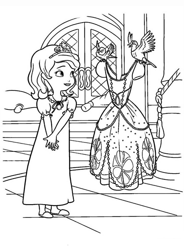Prenses Sofia 14 ücretsiz Boyama Resimleri