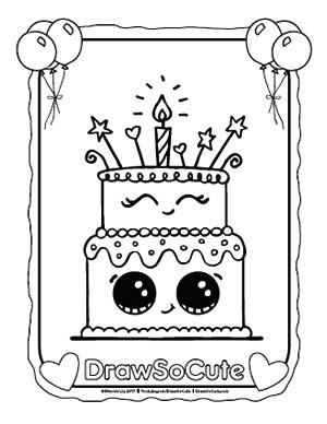 Draw So Cute Cake