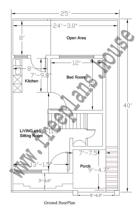 feet ground floor plan plans pinterest house