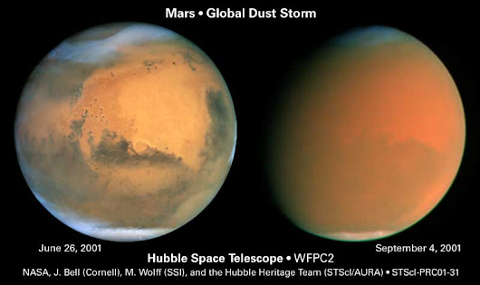 Dust storms on Mars • Hamilton's Thoughts