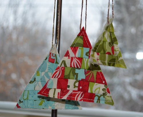 Tree Ornaments - Hanging on my sewing machine