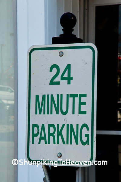 Parking Limit Sign at Realty Office, Lawrenceville, Illinois