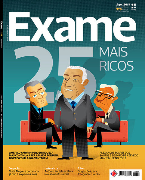 "Paulo Buchinho | Vector Illustration Portfolio — CLIENT: Exame Magazine, Agosto 2015 © PROJECT: ""25..."