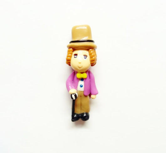 Cold Porcelain Willy Wonka Figurine  Willy by coldporcelainbypatty