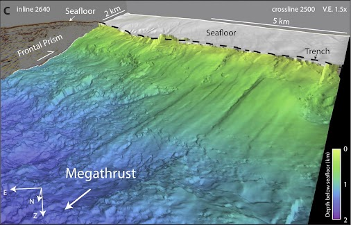 Geophysicists have obtained detailed three-dimensional images of a dangerous megathrust fault west of...