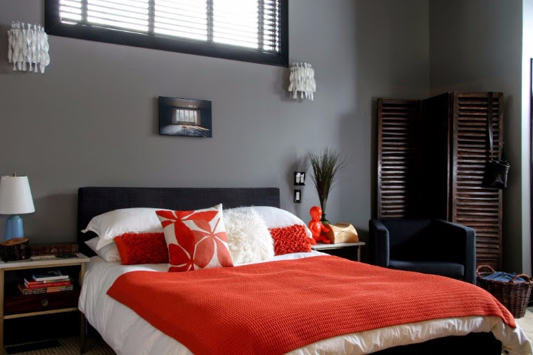 Grey Master Bedrooms With A Glimpse Of Color - Master ...