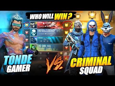 Blue Criminal Pro CS Grandmaster Squad vs Tonde Gamer || 3 - 0 से Come Back - Garena Free Fire