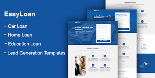 Download EasyLoan - Loan Company Website Templates nulled | OXO-NULLED