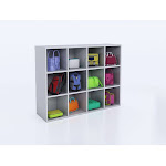 Whitney Brothers WB0661 12 Cubby Backpack Storage Cabinet White