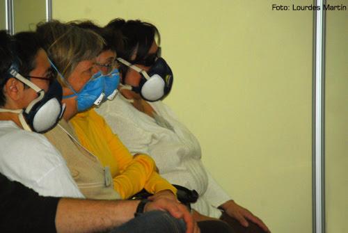 Enfermas de SQM asistiendo a una charla en Biocultura de Madrid