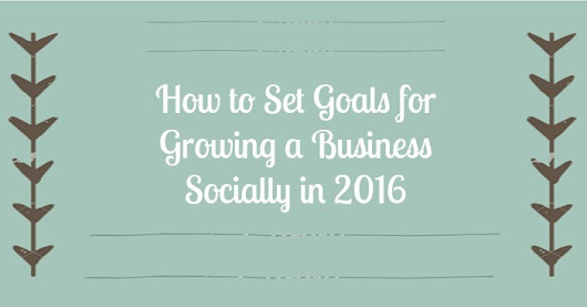 How to Set Goals for Growing a Business Socially in 2016