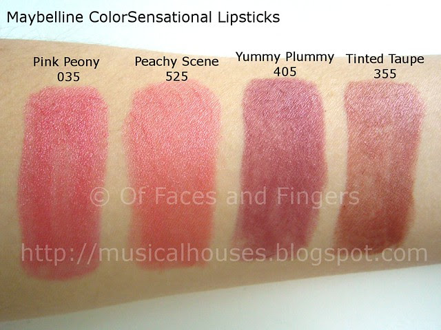revlon color sensational lipstick swatch