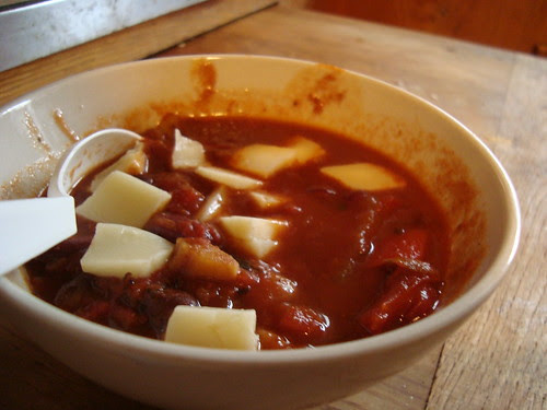 Four-Bean Chili Sin Carne w Cheese