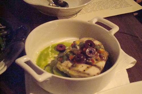 Hawaiian Walv Grilled over White Oak, Summer Vinaigrette, Basil, Kalamata
