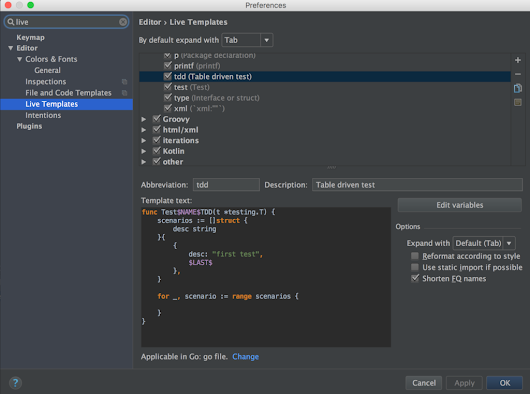 5 IntelliJ Tricks for Gophers