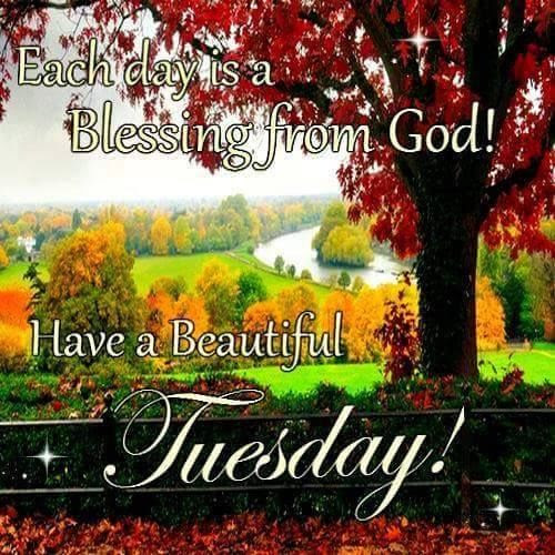Each Day Is A Blessing From God Have A Beautiful Tuesday Pictures