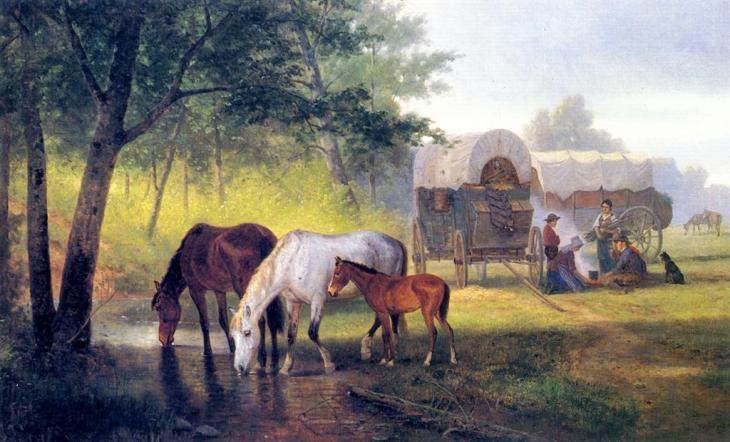 μετανάστες στην Καλιφόρνια William Hahn - 1879