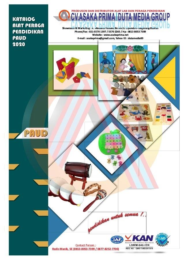 Katalog Penyediaan Alat Peraga Edukatif (APE) PAUD 2021 - HARGA APE PAUD 2021