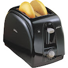 Sunbeam Wide Slot 2-Slice Toaster - black