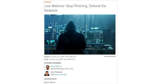 Stop Phishing, Defend the Network