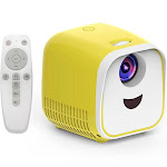 mini lcd projector support 1080p kids projector built-in hifi for home media player support tf card