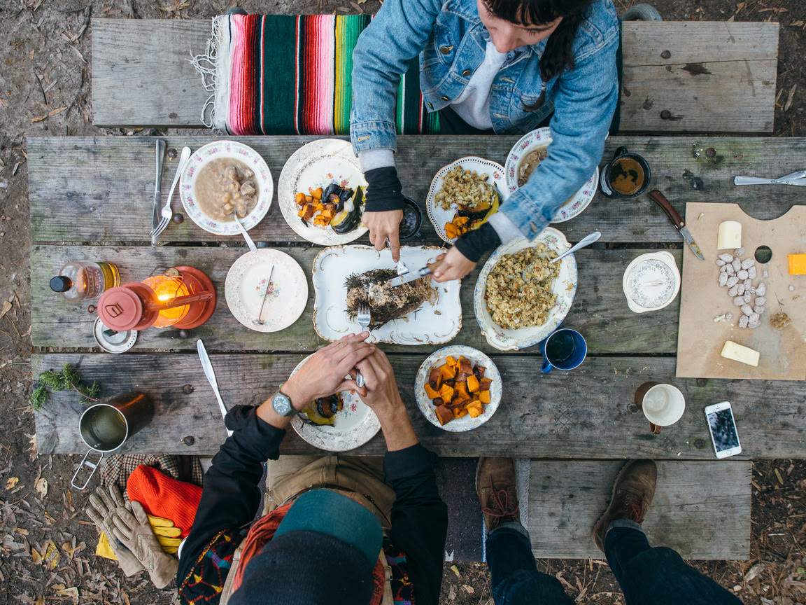 americayall:  Thanksgiving was beautiful. http://americayall.com/home/2014/12/7/camp-cookery-thanksgiving-feast.html