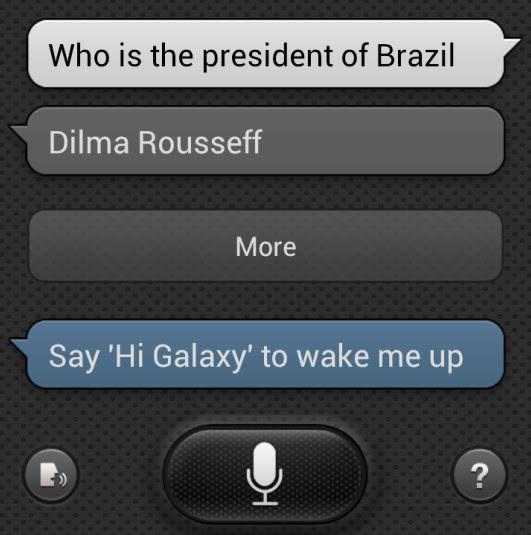 S voice responde uma perguntinha simples (Foto: TechTudo/Rodrigo Bastos)